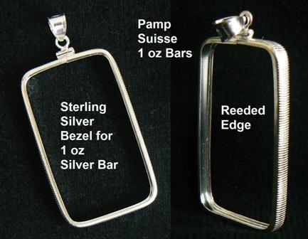 Silver Bezel Pendant For 1oz Pamp Suisse Bar 27 215 47