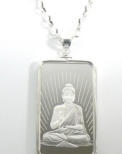 Pamp silver 1 oz religious buddha pendant jewelry with chain pamp silver 1 oz religious buddha pendant jewelry with chain mozeypictures Image collections